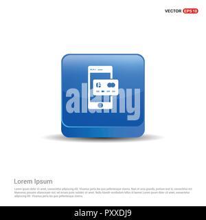 Mobile und Kreditkarte Symbol - 3d-blauen Button. - Stockfoto