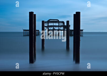 West Pier, Brighton, Hove, East Sussex, England, UK, GB - Stockfoto