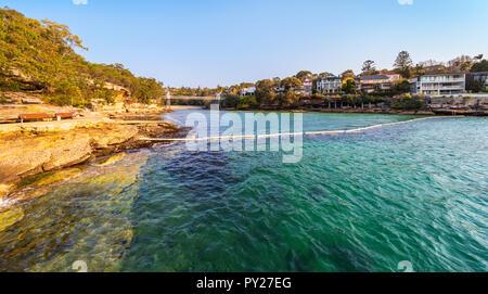 Shark net am Petersilie Bay finden im Vaucluse, Sydney. New South Wales, Australien - Stockfoto