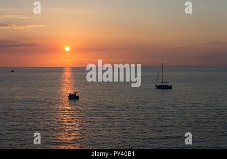 Italien, Apulien, Gallipoli, Sonnenuntergang. - Stockfoto