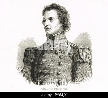 Kapitän Sir William Schälen, dritter Sohn von Premierminister Sir Robert Peel. Empfänger der Victoria Cross, nahm ein live Shell mit Sicherung brennt immer noch, den 18. Oktober 1854 bei der Belagerung von Sewastopol - Stockfoto