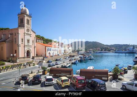 Église Notre-Dame de Bonne Nouvelle Kirche in Collioure, mediterranen Fischerhafen entlang der Côte Vermeille, Pyrénées-Orientales, Frankreich - Stockfoto