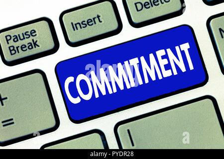 Wort schreiben Text Engagement. Business Konzept für Qualität der eingeweiht wird, um Aktivitäten Engagement führen. - Stockfoto