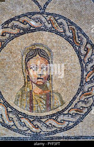 Italien, Friaul Julisch Aquilee, Aquileia, Basilika von Santa Maria Assunta, Mosaik aus dem 4. Jahrhundert - Stockfoto