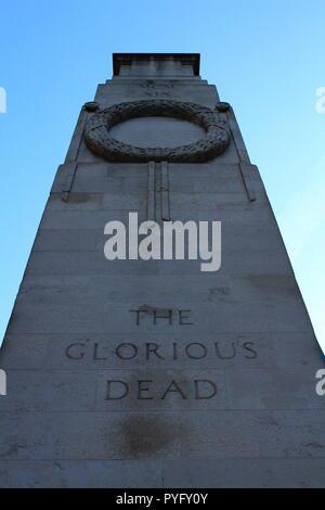 London, UK-20, Oktober 2018: Das ehrenmal Ersten Weltkrieg Denkmal an Whitehall in London - Stockfoto