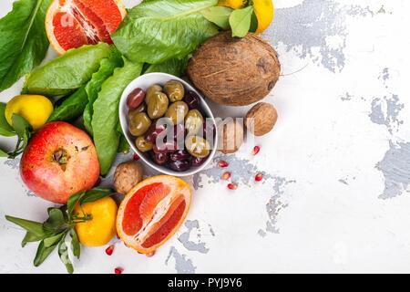 Lebensmittel, die den Schutz der Haut - Stockfoto