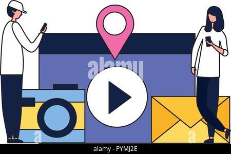 Social Media digital - Stockfoto