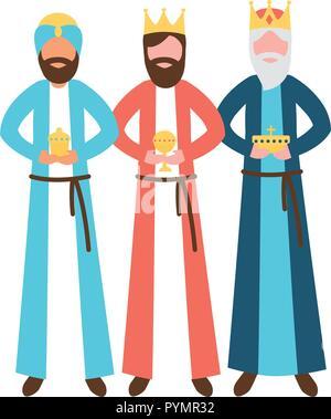 Drei weisen König mit Geschenk Epiphanie - Stockfoto