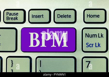 Wort schreiben Text bpm. Business Konzept für Disziplin der Verbesserung einer Business Process Ausführung Verbesserungen. - Stockfoto