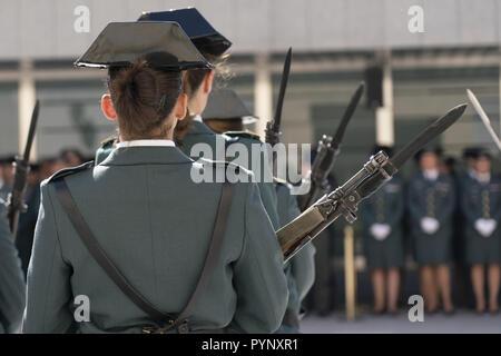 30. Jahrestag der Aufnahme von Frauen in die spanische Guardia Civil Mit: Atmosphäre, Wo: Madrid, Spanien Wann: 28 Sep 2018 Credit: Oscar Gonzalez/WENN.com - Stockfoto