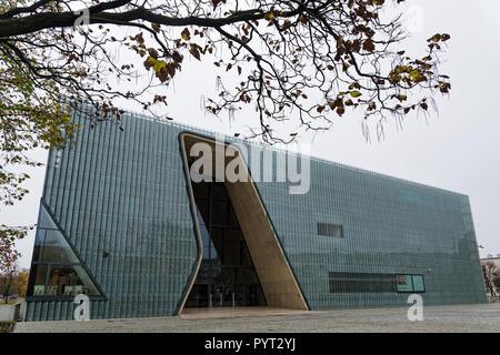 Blick auf die Polin Museum, ein Museum der Geschichte der Polnischen Juden, die am 22. Oktober 2017 in Warschau, Polen - Stockfoto