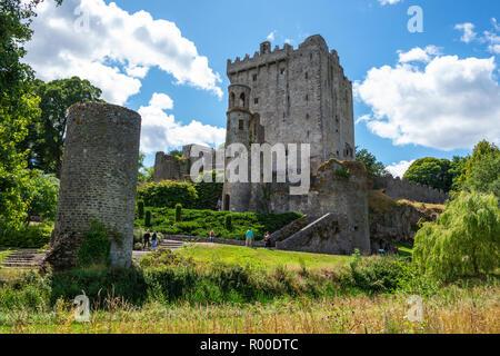 Blarney Castle und Gärten, in der Nähe von Cork im County Cork, Republik von Irland - Stockfoto
