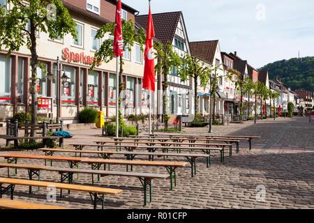 Stadtbild von Bodenwerder, Geburtsort von Baron Münchhausen, Weserbergland, Niedersachsen, Deutschland, Europa