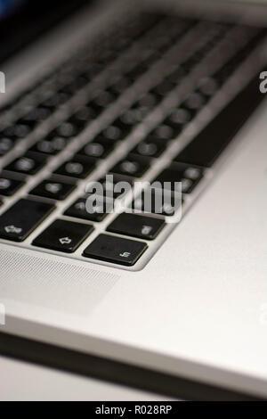 Nahaufnahme Fotografie der Laptop Tastatur schwarz - Stockfoto