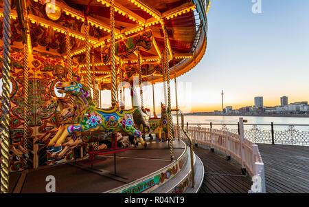 Palace Pier von Brighton, Brighton, East Sussex, England, Vereinigtes Königreich, Europa - Stockfoto