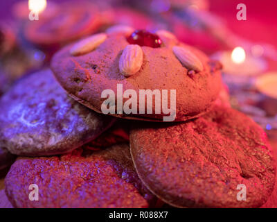 Typisch für Weihnachten das Traditionelle deutsche Lebkuchen Lebkuchen - Stockfoto