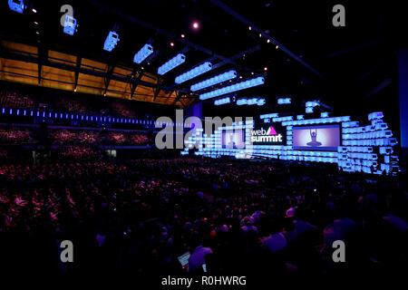 Lissabon, Portugal. 5 Nov, 2018. Allgemeine Ansicht des Web Gipfel 2018 Veranstaltungsort Altice Arena in Lissabon, Portugal am 5. November 2018. Credit: Pedro Fiuza/ZUMA Draht/Alamy leben Nachrichten - Stockfoto