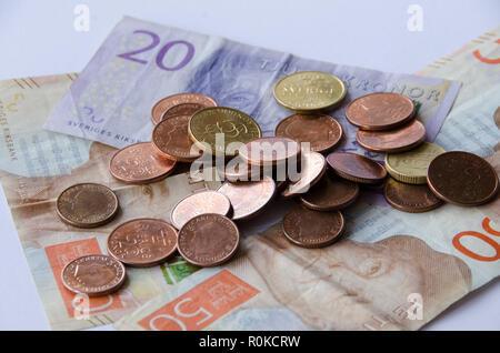 Schwedische Währung Neue 20 50 200 Hinweis Stockfoto Bild
