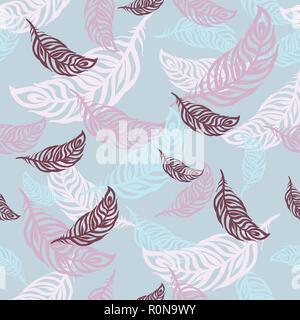 Federn nahtlose Licht Muster für Bettwäsche, Poster, Logo, Hintergrund, Textur, Drucken - Stockfoto