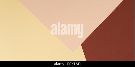 Farbe Papiere Geometrie Zusammensetzung Banner Hintergrund Mit Braun