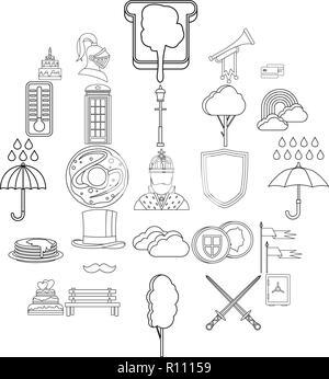 Eine Reihe Von Britischen Fruhstuck Abbildung Vektor Abbildung