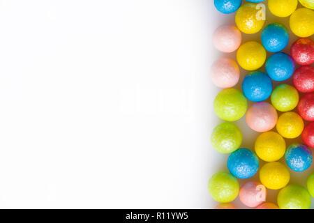 Bunter Zucker streusel Makro Hintergrund Dekoration für Kuchen und Backwaren - Stockfoto