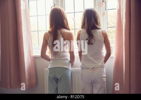 Beste Freunde zusammen aufwachen. - Stockfoto