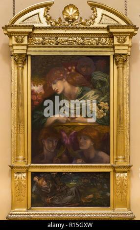 Die selige Damozel, Dante Gabriel Rossetti, 1873-1880, Lady Hebel Art Gallery, Port Sunlight, Liverpool, England, UK, Europa - Stockfoto