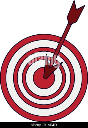 Ziel dartboard Symbol mit dem Pfeil Vector Illustration graphic design - Stockfoto