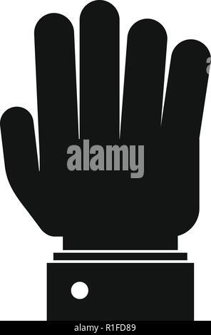 Hand Symbol anhalten. Einfache Abbildung der Hand Vektorbefehl stop Symbol für Web - Stockfoto