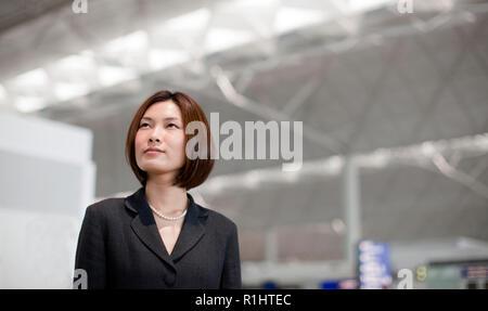 Portrait der junge chinesische Geschäftsfrau. - Stockfoto