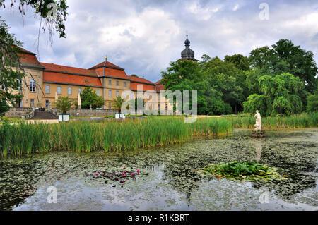 See von Schloss Fasanarie Park in Fulda in Hessen, Deutschland - Stockfoto
