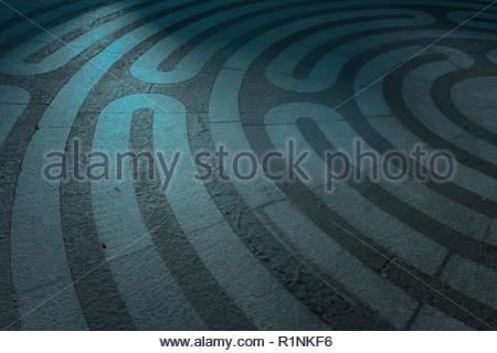 Labyrinth Auf Dem Boden Gezeichnet Stockfoto Bild 224825757 Alamy