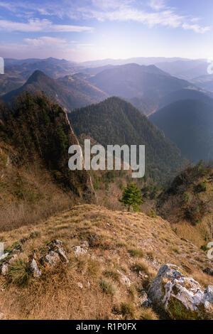 Pieniny Blick von oben auf die Drei Kronen - Stockfoto