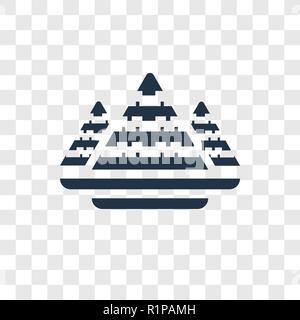 Ägypten vektor Icon auf transparentem Hintergrund isoliert, Ägypten Transparenz logo Konzept - Stockfoto