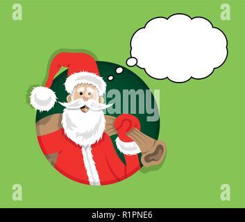 santa cartoon weihnachten zeichen grafik mit santa claus. Black Bedroom Furniture Sets. Home Design Ideas