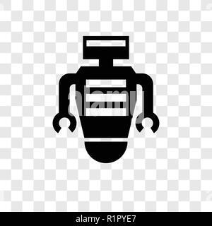 Roboter vektor Icon auf transparentem Hintergrund isoliert, Roboter Transparenz logo Konzept - Stockfoto