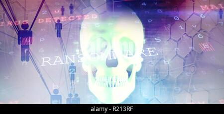Zusammengesetztes Bild des Virus Hintergrund - Stockfoto