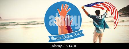 Das zusammengesetzte Bild von Martin Luther King Tag mit Händen - Stockfoto
