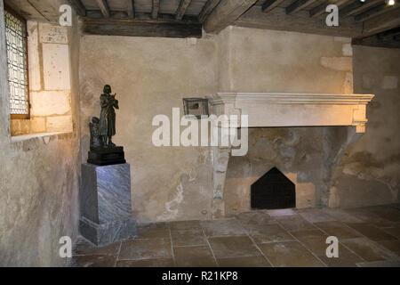 Die Zimmer im Jeanne d'Arc Geburtshaus in Domremy-la-Pucelle, Frankreich. - Stockfoto