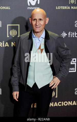 Modesto Lomba kümmert sich um fantastische Tiere: Die Verbrechen von Grindelwald Film Premiere während der Woche in Madrid Premiere Kinepolis in Pozuelo de Alarcon. - Stockfoto