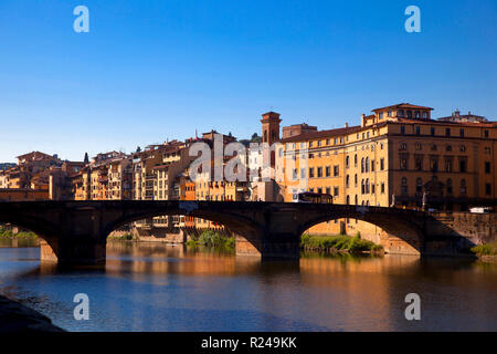 Santa Trinita Brücke, Florenz, Toskana, Italien, Europa - Stockfoto