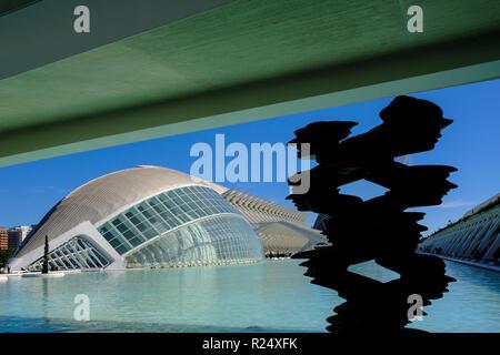 Stadt der Künste und Wissenschaften, Valencia, Spanien - Stockfoto