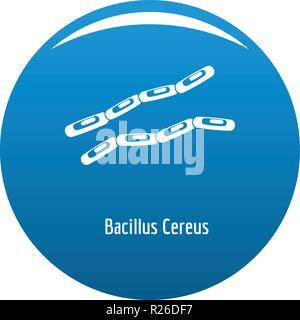 Bacillus cereus Symbol Vektor blauer Kreis auf weißem Hintergrund - Stockfoto