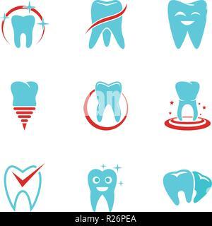 Poliklinik Symbole gesetzt. flachbild Set von 9 Poliklinik Vector Icons für Web auf weißem Hintergrund - Stockfoto