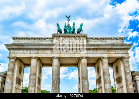 Brandenburger Tor in Berlin in Deutschland. - Stockfoto