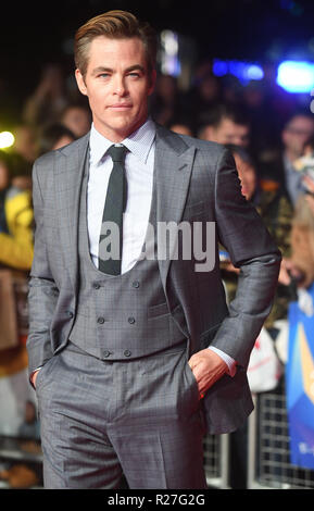 62 London Film Festival - Die Outllaw König - Premiere mit: Chris Pine Wo: London, Vereinigtes Königreich, wenn: 17 Okt 2018 Credit: WENN.com - Stockfoto