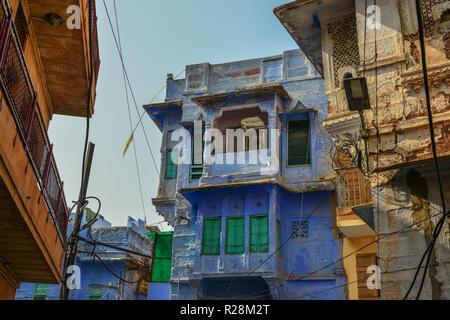 Altstadt von Jodhpur, Indien. Jodhpur ist die zweitgrößte Stadt im Bundesstaat Rajasthan. - Stockfoto