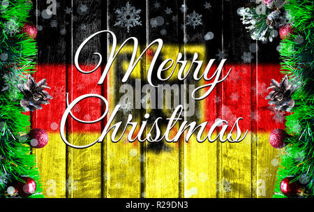 deutschland weihnachtskarte mit der flagge der. Black Bedroom Furniture Sets. Home Design Ideas