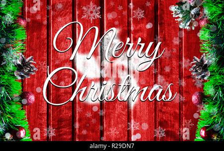 Frohe Weihnachten Urlaub Konzept mit unscharfen Flagge Bild von Hong Kong, Xmas Hintergrund. - Stockfoto